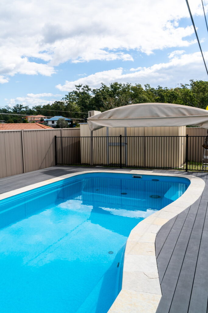 pool cover retracted Gold Coast Cool arch